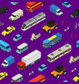 transport car 3d seamless pattern background vector image vector image