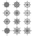 vintage compass symbols and signs vector image vector image