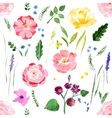 watercolor floral seamless vector image vector image