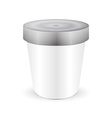 White Short And Stout Tub Food Plastic Container vector image