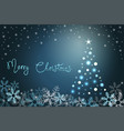 winter holiday background with snow and fur-tree vector image