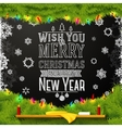 Wish you a merry christmas and happy new year vector image vector image
