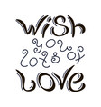 wish you lots of love vector image vector image