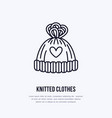 woolen hat knitted clothing shop vector image vector image