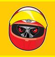 zombie head - racer vector image