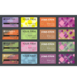 Business Name Card Set vector image