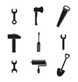 tools set icons vector image