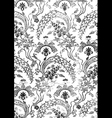 16 Abstract hand-drawn floral seamless pattern vector image vector image