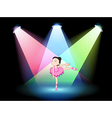 a stage with a cute ballerina in middle vector image