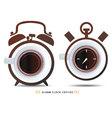 alarm clock coffiee vector image
