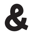 ampersand icon vector image vector image
