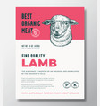 best organic meat abstract packaging design vector image vector image