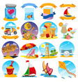 big set of color on the theme of summer vector image vector image