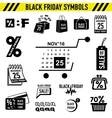 Black Friday Sales icons set simple style vector image vector image