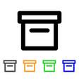 box stroke icon vector image