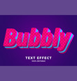 bubbly red blue fresh text effect vector image vector image