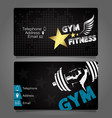 business card gym and fitness design vector image vector image