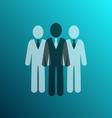 businessman team icon vector image vector image