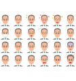 businessman various expressions set vector image vector image