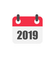 calendar organizer icon in flat style appointment vector image