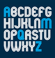 capital bold english alphabet letters made with vector image