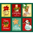Christmas and New Year card set for holiday design vector image