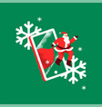 christmas concept santa claus in mobile phone vector image