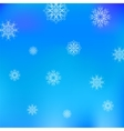 Christmas White Snowflake Pattern on Blue vector image vector image