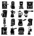 coffee maker icons set simple style vector image vector image