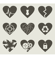 Collection heart vector image vector image
