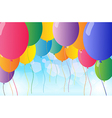 Colorful flying balloons vector image vector image