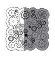 contour gears symbols icon vector image vector image