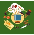 Cooking vegetarian food flat design vector image vector image