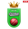 cricket badge and label vector image vector image