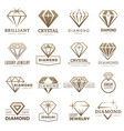 diamond logo stylizes gemstones royal luxury vector image vector image