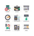 digital marketing icons set 2 vector image vector image