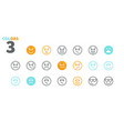 emotions ui pixel perfect well-crafted thin vector image vector image