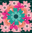 floral pattern decoration ornament flowers vector image