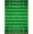 Football - Soccer Field Aerial View vector image vector image