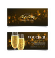 gift voucher for christmas and new year sales vector image