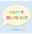 Happy blog day icon on blue background vector image vector image