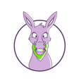 happy donkey vector image vector image