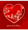 heart red pattern vector image vector image