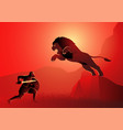 heracles or hercules fighting nemean lion vector image vector image