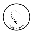 Icon of curved fishing tackle vector image vector image