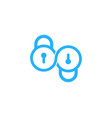infinity security logo icon design vector image