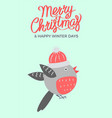 merry christmas bullfinch vector image vector image