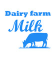 milk cow dairy vector image
