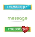 minimal and clear colored bannes set vector image vector image