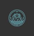 mountain camp logo vector image